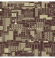 Industrial pattern linear vector image vector image