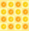 lemon and orange slices seamless pattern vector image
