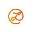 letters z logo design template elements vector image vector image