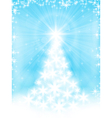 Light blue christmas tree background vector image