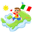 love for italy vector image