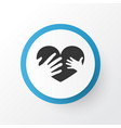 loving icon symbol premium quality isolated hands vector image
