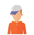 Man Character Avatar in Flat Design vector image vector image