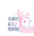 mermaid tail for t-shirt vector image
