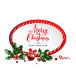 merry christmas red frame vector image vector image