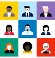 Modern flat avatars set male and female user icons vector image vector image