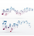 music notes colorful background vector image