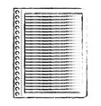 notebook paper with horizontal lines in black vector image vector image