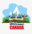 ottawa canada cityscape scene vector image vector image