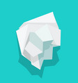 paper crumpled ball icon or trash wrinkle