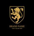 royal lion logo design template vector image