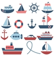 sea transport set vector image vector image
