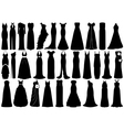 Set of dresses vector image vector image