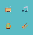 set of melody icons flat style symbols with retro vector image