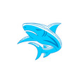 shark template logo design outline isolated vector image vector image