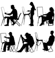silhouette artist at work on a white background