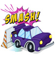 Smashed cars vector image