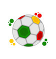soccer ball with the colors of senegal vector image