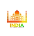 Stencil of the Taj Mahal on a sunset background vector image vector image