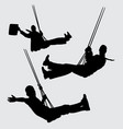 swing people silhouette vector image vector image