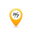 taxi service 24 7 icon flat style yellow taxi vector image vector image
