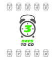 three days to go sticker or label - sale ringing vector image vector image