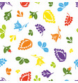 tile pattern with seamless colorful floral print vector image vector image