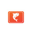 tona blue fish in symbol design tuna marine life vector image vector image