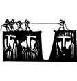 Tug A War vector image