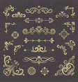 vintage ornament borders dividers ornate vector image