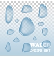 Water drops objects Rain on background vector image vector image