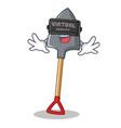 with virtual reality shovel character cartoon vector image vector image