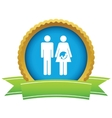 Young family icon vector image