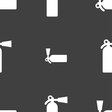 fire extinguisher icon sign Seamless pattern on a vector image