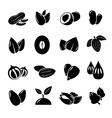 Nut and seed black icon vector image