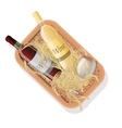 Picnic basket with bottles of red and white wine vector image