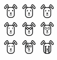 Rabbit face icon vector image