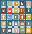 Bathroom flat icons on blue background vector image