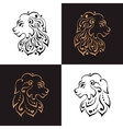 Lion head tattoo or logo vector image