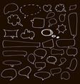 speech hand drawn bubbles set talk clouds vector image