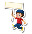 a sticker template with muslim boy holding