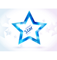 abstract blue star vector image vector image