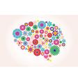 Abstract human brain creative vector image