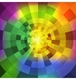 abstract radiant multicolor tunnel background vector image vector image