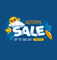 advertising banner about seasonal autumn sale vector image vector image