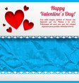 amorous greeting template vector image vector image