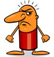 angry guy cartoon vector image vector image