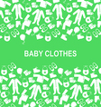 baby clothes back green vector image vector image