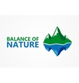 Balance of nature Mountain and iceberg vector image