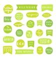 big set healthy food badges bio organic vector image vector image